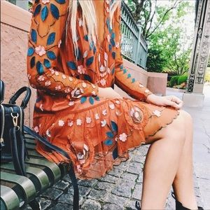 RARE Free people blogger fav hearts are wild dress